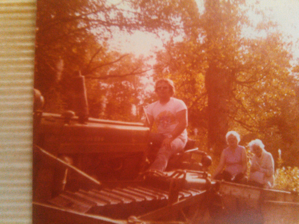RAndy on the dozer w/Granny and Grace behind Lydic Collection